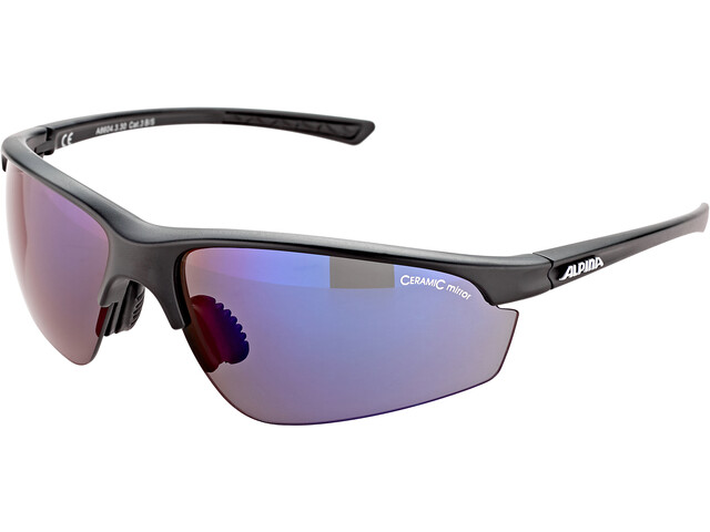 Alpina Tri-Effect 2.0 Brille black matt/blue mirror